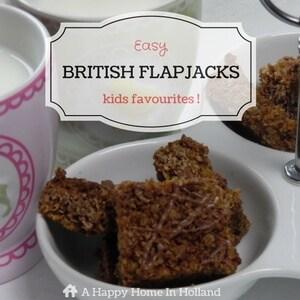 British Flapjacks Recipe - Yummy Traybake Recipe Made From Oatflakes & Syrup