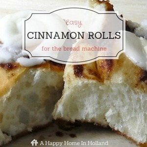 Breadmaker Cinnamon Rolls Recipe
