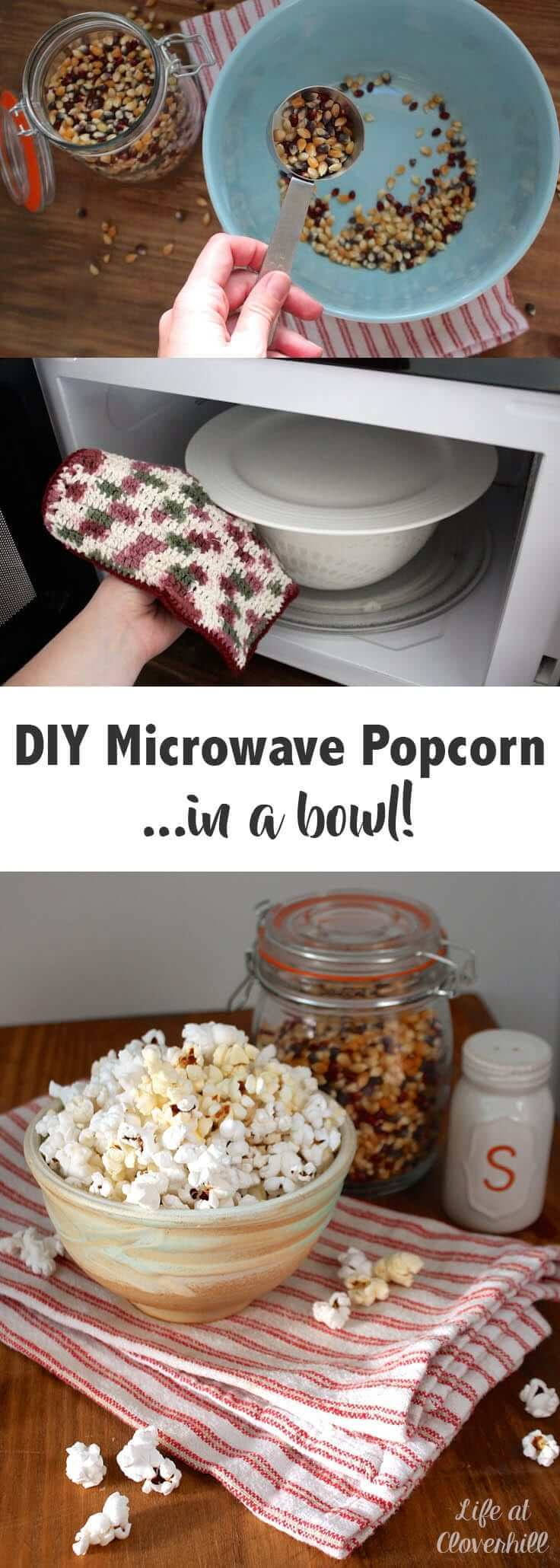 DIY Microwave Popcorn in a Bowl: A Healthy Snack Idea