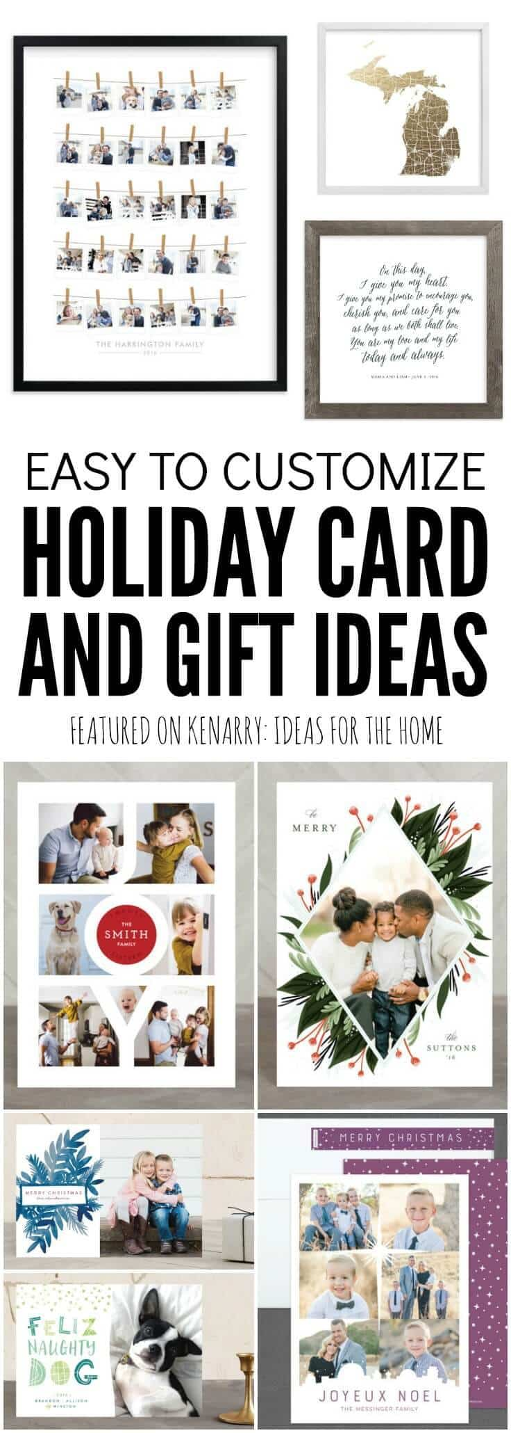 Love these unique ideas for easy to customize holiday cards and gifts from Minted! We'll be able to create something one-of-a-kind and special for everyone this Christmas.