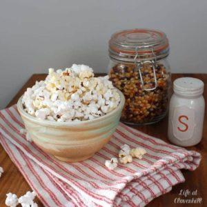 DIY Microwave Popcorn in a Bowl