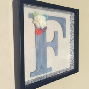 DIY Decorated Shadow Box Initial Art