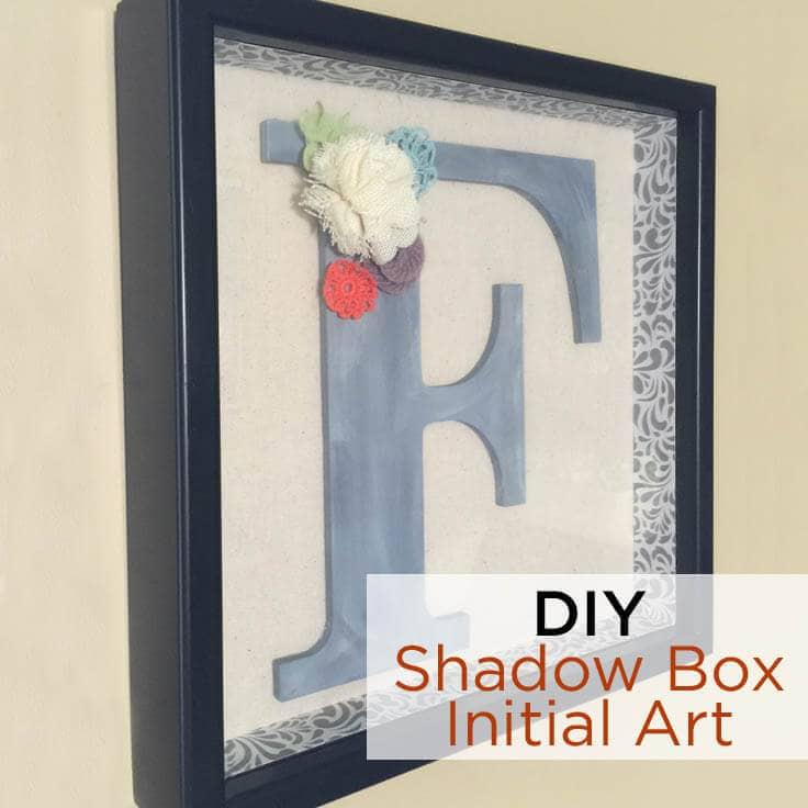 Diy Decorated Shadow Box Initial Art