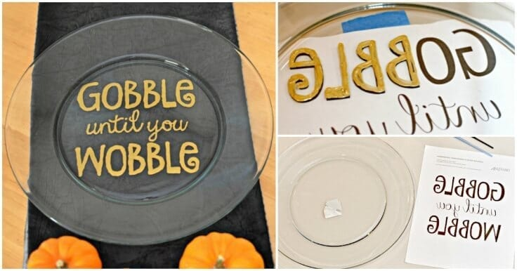 Need a DIY Thanksgiving gift idea? Make a Hand painted Thanksgiving Platter that says