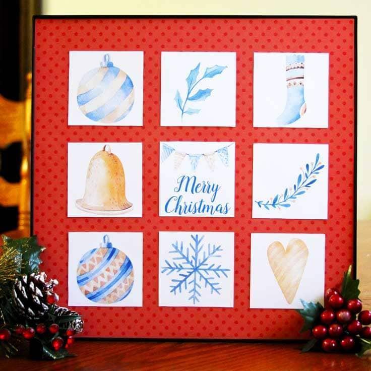 Easy DIY Christmas Art: Free Printable