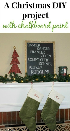 A Christmas DIY with chalkboard paint