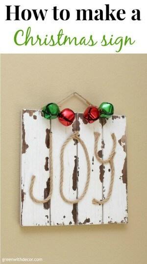 A DIY Christmas JOY sign