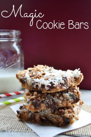 Magic Cookie Bars Recipe | TypicallySimple.com