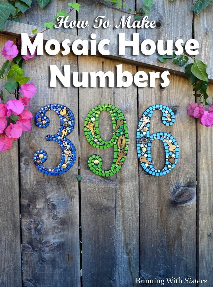 How to make mosaic house numbers the easy way learn to make diy mosaic house numbers with this easy tutorial and video we solutioingenieria Gallery