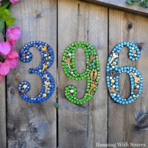 How To Make Mosaic House Numbers (The Easy Way!)