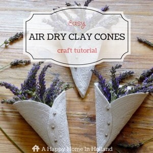 air-dry-clay-cones-tutorial
