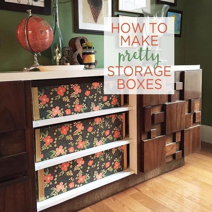how to make pretty storage boxes for organization