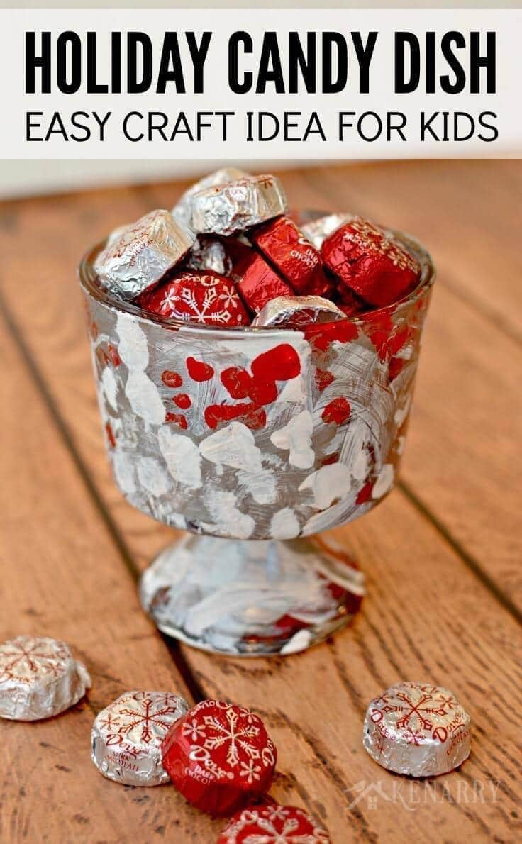 holiday candy dish easy christmas craft idea for kids - Christmas Candy Dishes