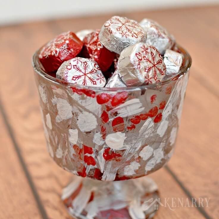 kids will love making this holiday candy dish as a christmas gift for their teachers