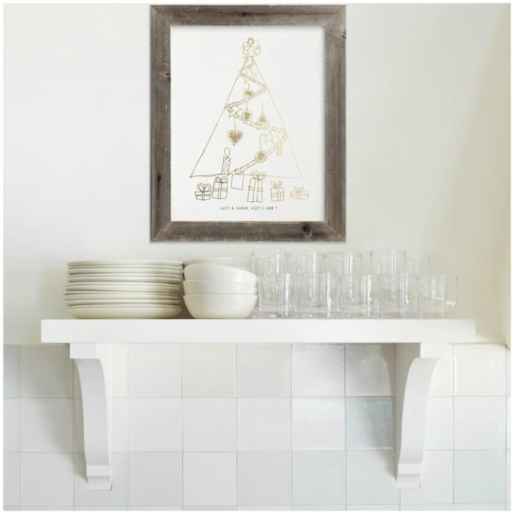 Your Drawing As Foil Art Print at Minted