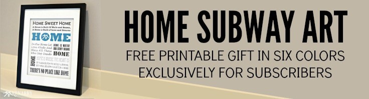 Home Subway Art Printable: Free Gift for Subscribers