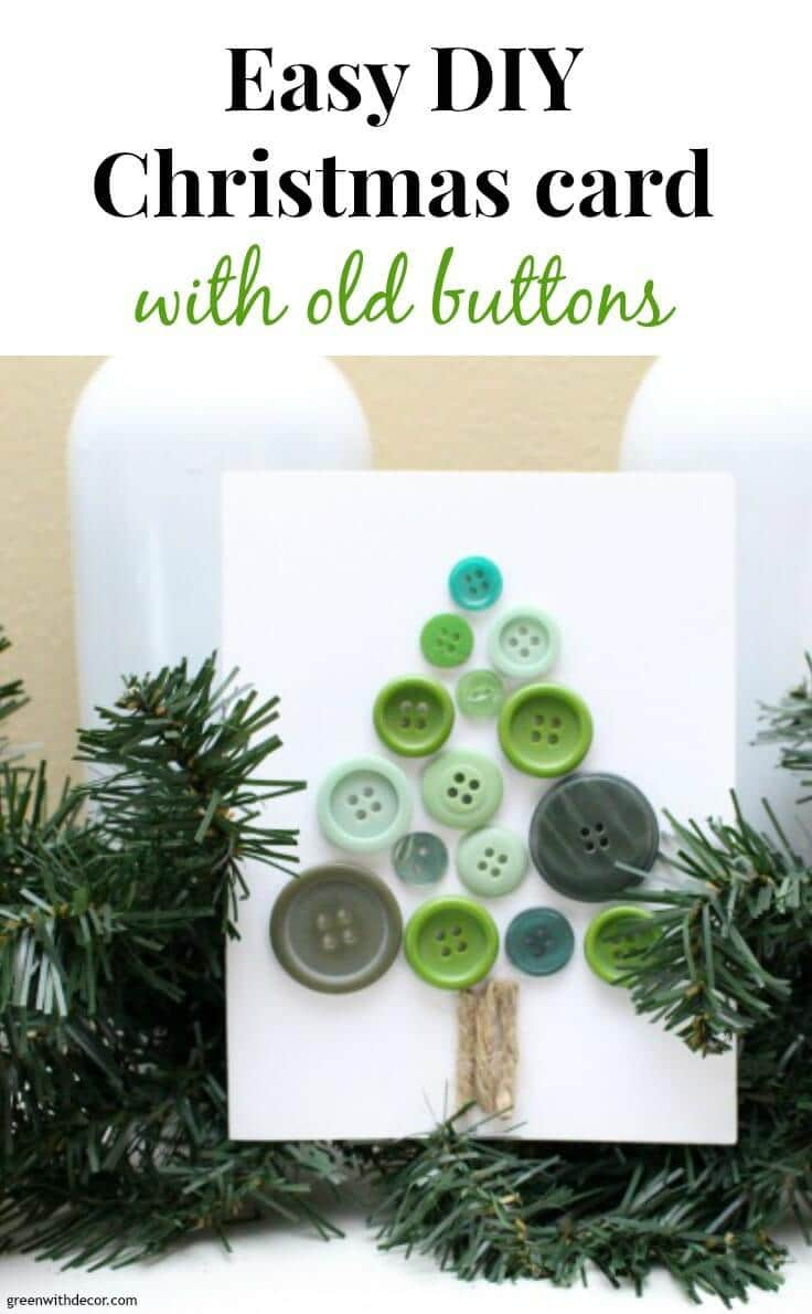 Easy DIY Christmas Card with Old Buttons: A Holiday Tutorial