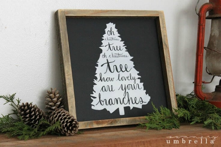 oh christmas tree wood sign from the summery umbrella featured on kenarrycom - Christmas Decor Signs