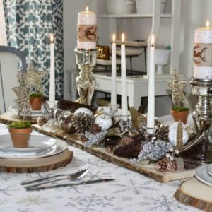 Silver and Gold Christmas Tablescape Decor