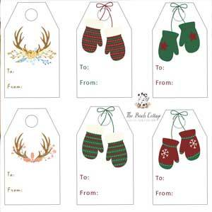 Free Printable Christmas Gift Tags from The Birch Cottage