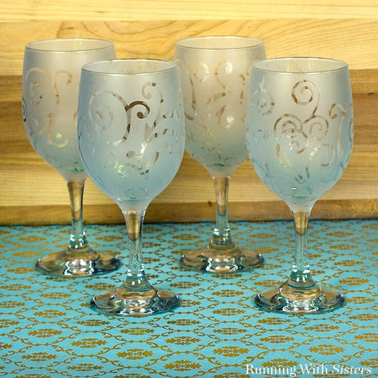 Gift Craft: How To Etch Wine Glasses