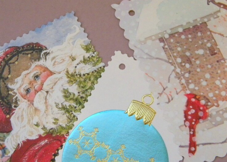 Upcycling Holiday Gift Tags - Home Work featured on Kenarry.com