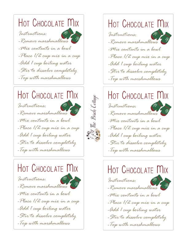Homemade hot chocolate mix gift idea with labels homemade hot chocolate mix recipe is more than just a beverage its a great last solutioingenieria Images