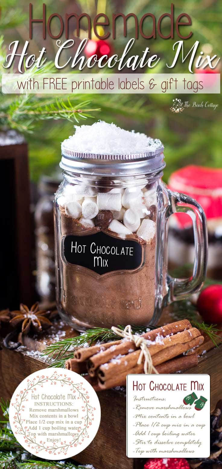 Homemade hot chocolate mix gift idea with labels homemade hot chocolate mix recipe is more than just a beverage its a great last negle Choice Image