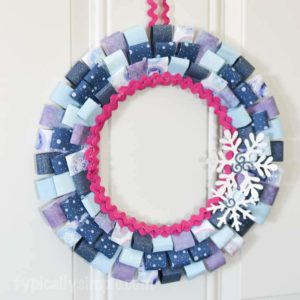Scrapbook Paper Winter Wreath Craft