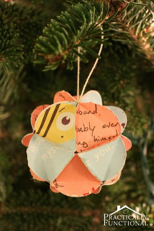 Turn Holiday Cards Into Keepsake Ornaments – Practically Functional featured on Kenarry.com