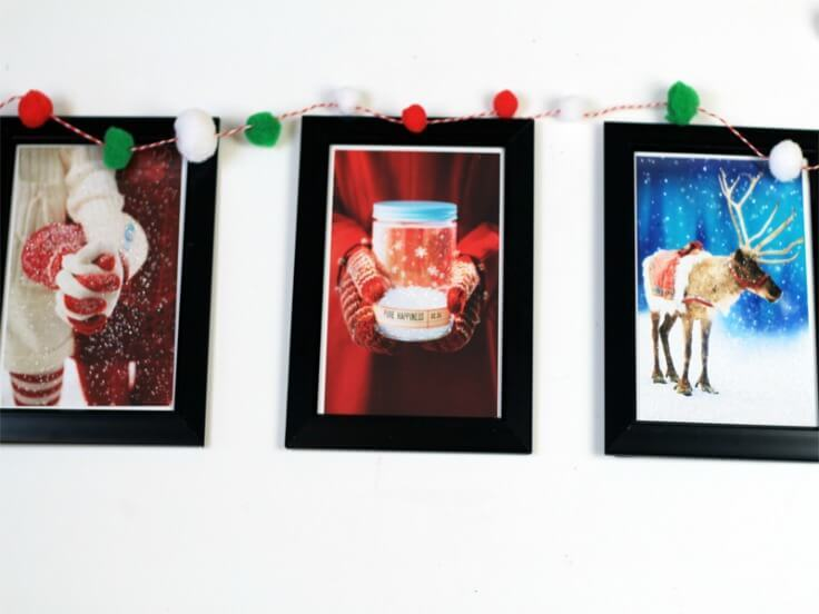Upcycled Christmas Cards to Framed Wall Art - The Southern Couture featured on Kenarry.com