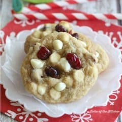 If you've got a cookie exchange coming up, or really just any holiday get-together on your horizon, these Cranberry White Chocolate Chip Cookies are the perfect treat!