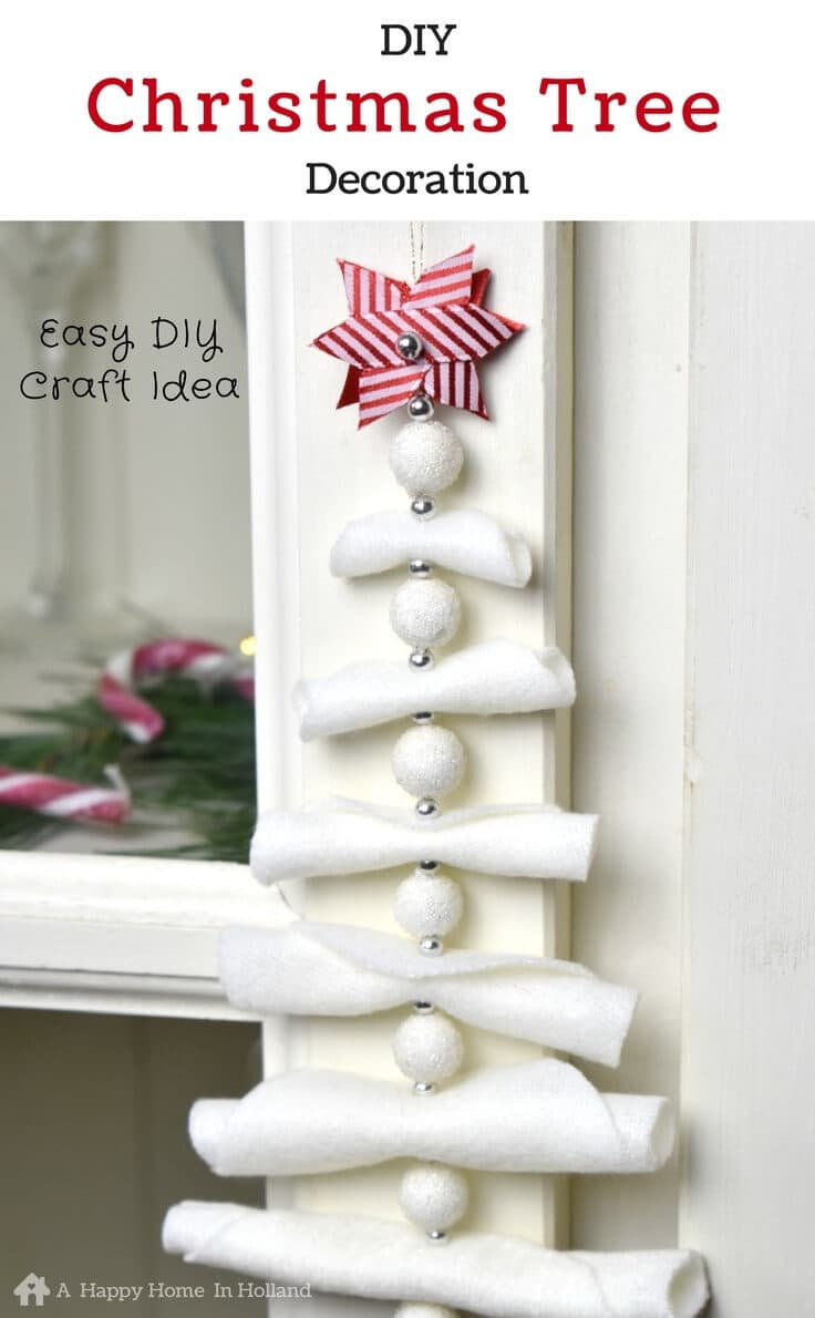 Hanging Christmas Decorations Diy.Diy Hanging Christmas Tree Decoration Simple And Stylish