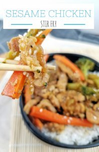 Sesame Chicken Stir Fry by Rachel Groff