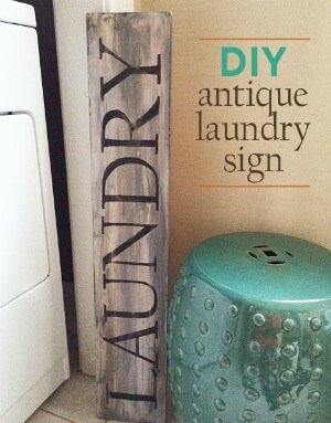 DIY Antique Laundry Sign from Greco Design Company
