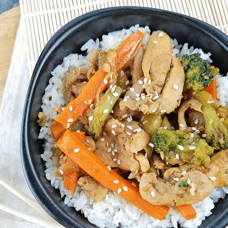 Sesame Chicken Stir Fry by Rachel Groff 5
