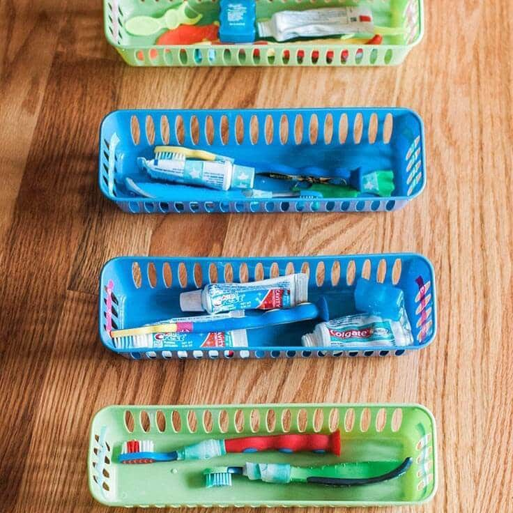 How to Organize Toothbrushes in Your Kid's Bathroom