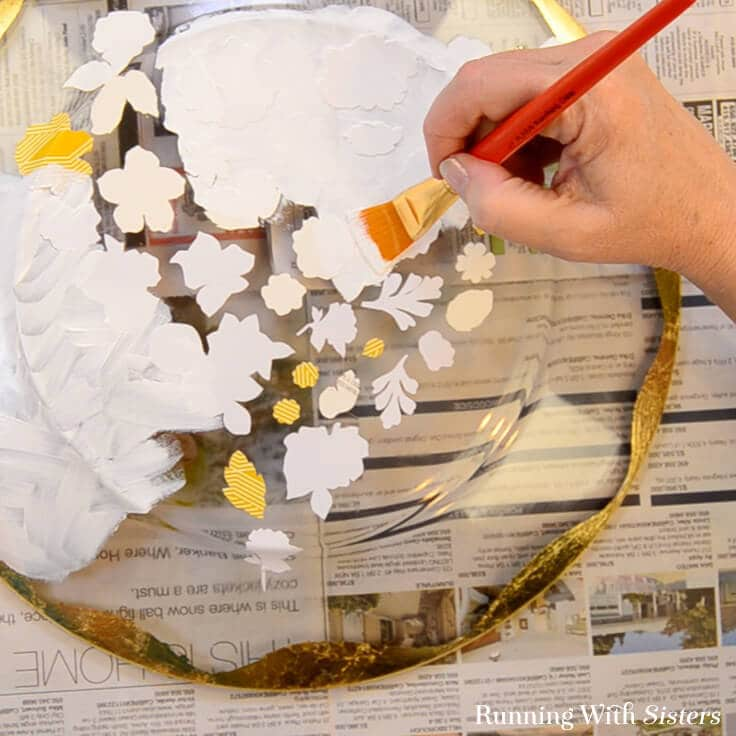 Decoupage A Glass Plate With Mod Podge Make A Flowery Heart