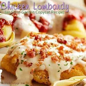 Chicken Lombardy Recipe from The Birch Cottage is a delicious Olive Garden Copycat Recipe that's sure to please your family!