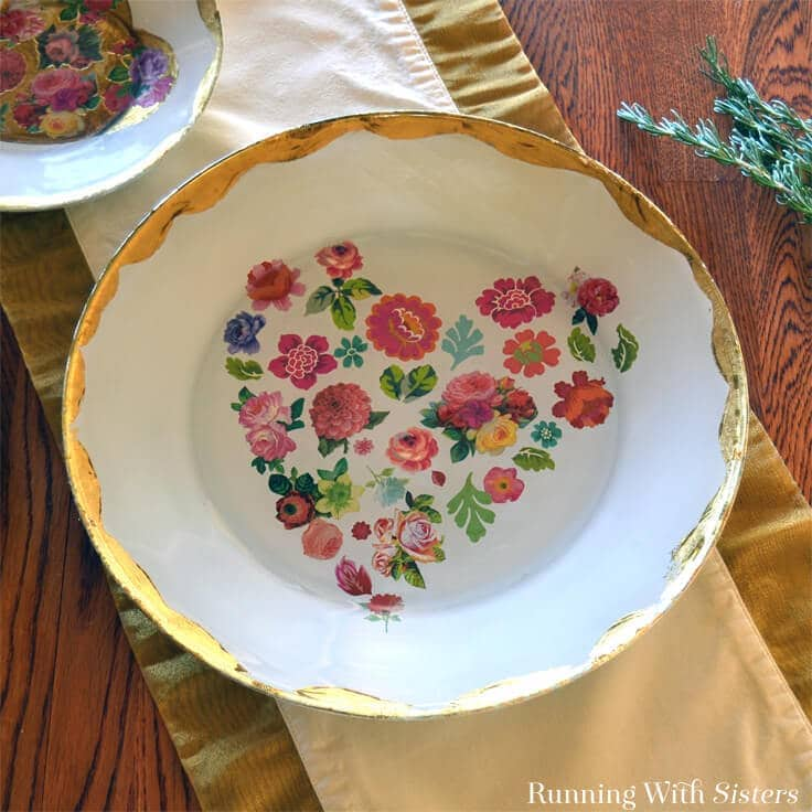 How to Decoupage A Glass Plate With Mod Podge