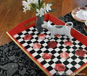 Decoupage Rose Tray