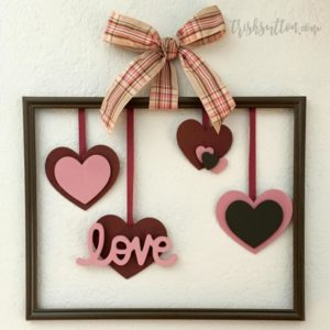 Framed Floating Hearts Valentine's Day Decoration