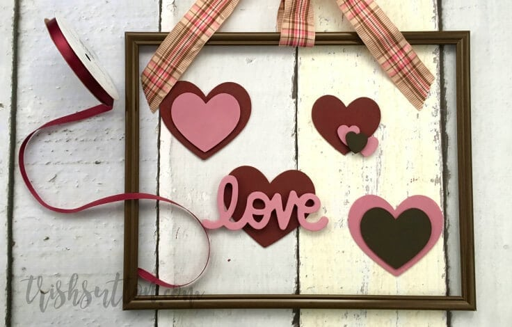 Framed Floating Hearts Valentine Decor, TrishSutton.com