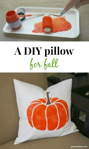 How to stencil a pillow