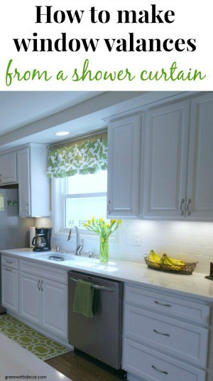 How to make a window valance from a shower curtain