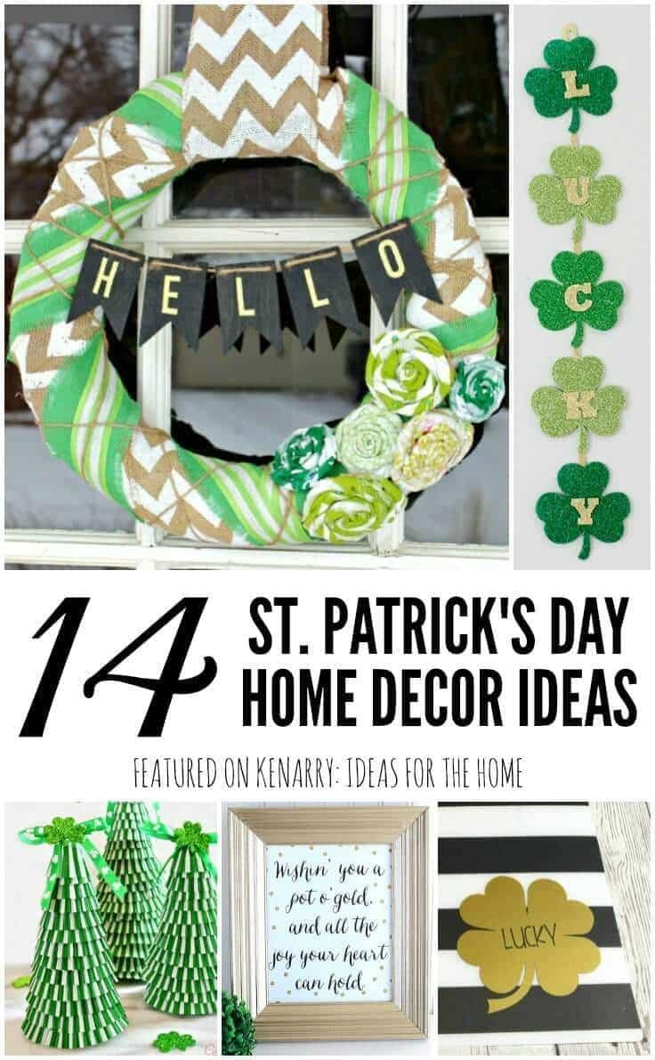 st patrick 39 s day home decor 14 crafts and printables. Black Bedroom Furniture Sets. Home Design Ideas