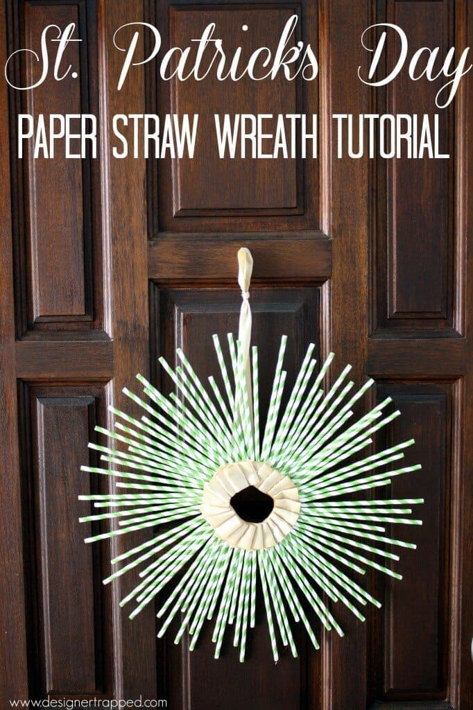 St Patrick's Day Wreath Tutorial – Designer Trapped in a Lawyer's Body - St. Patrick's Day Home Decor Ideas featured on Kenarry.com