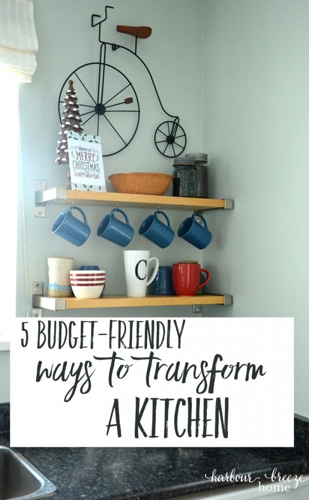 budget friendly ways to totally transform a kitchen