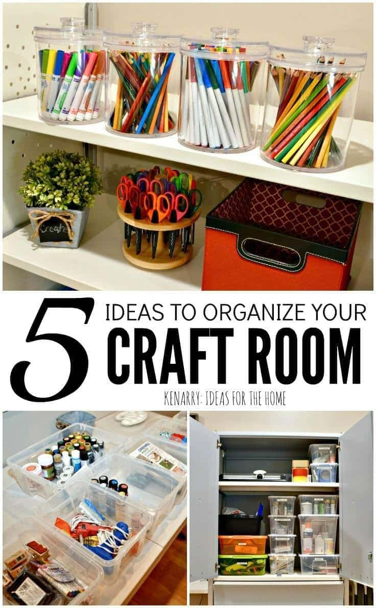 Craft room organization 5 easy and creative ideas to tidy for Craft supplies organization ideas