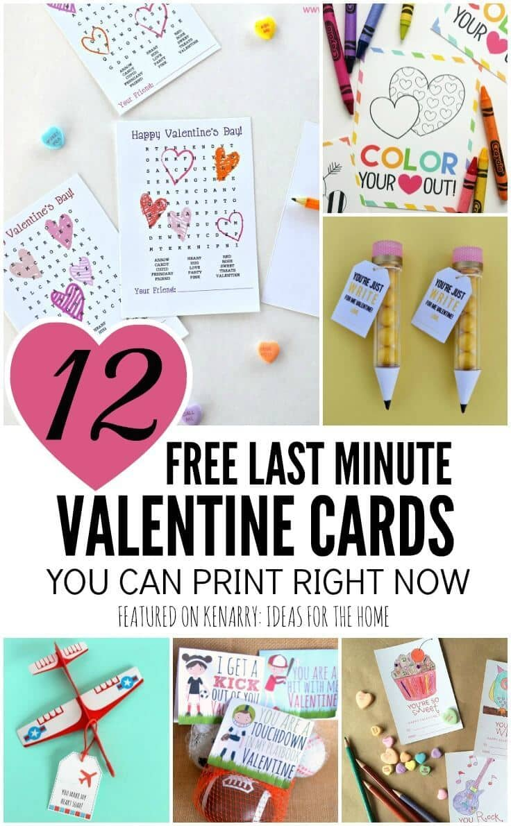 image regarding Printable Valentines for Kids named Cost-free Printable Valentines: 12 Previous Moment Playing cards By yourself Can